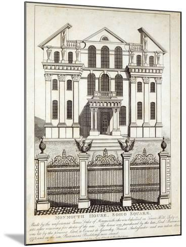 Monmouth House, Soho Square, published by N. Smith, Gt Mays Buildings, 11th January 1791--Mounted Giclee Print