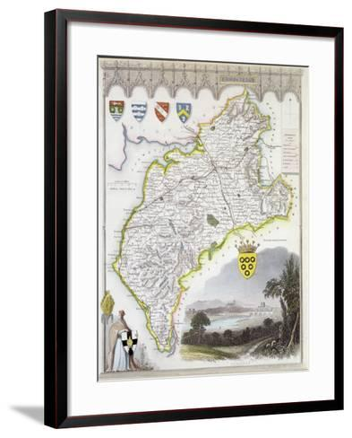 Map of Cumberland, from 'Moule's English Counties', c.1836-Thomas Moule-Framed Art Print