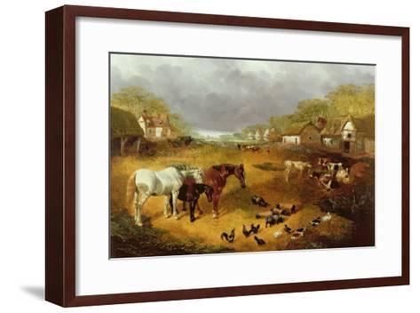 A Farmyard in Spring-John Frederick Herring II-Framed Art Print