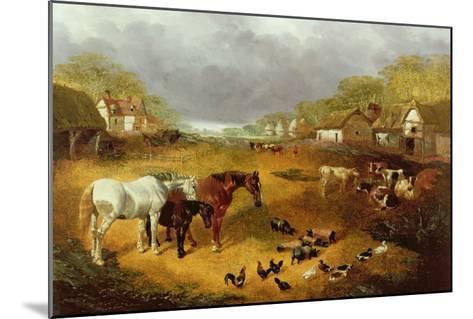 A Farmyard in Spring-John Frederick Herring II-Mounted Giclee Print