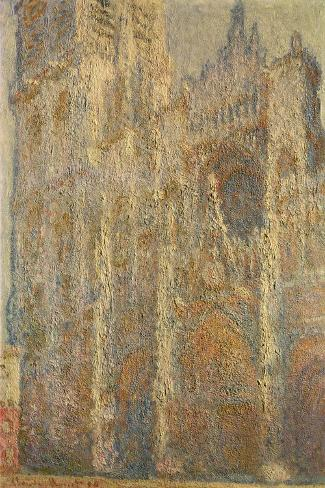 Rouen Cathedral, Midday, 1894-Claude Monet-Stretched Canvas Print