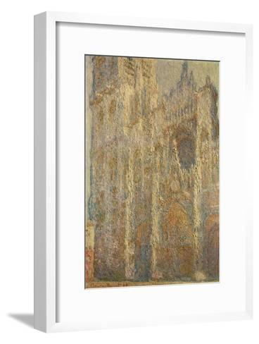Rouen Cathedral, Midday, 1894-Claude Monet-Framed Art Print