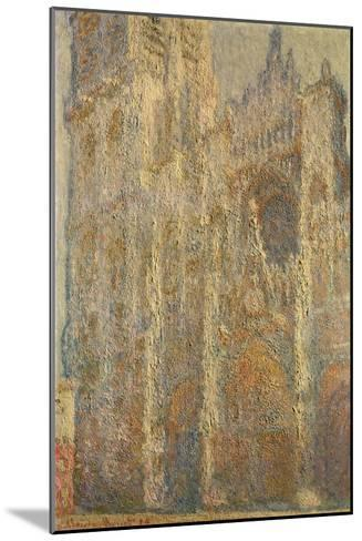 Rouen Cathedral, Midday, 1894-Claude Monet-Mounted Giclee Print