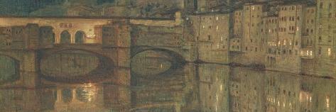 Ponte Vecchio, Florence-William Holman Hunt-Stretched Canvas Print
