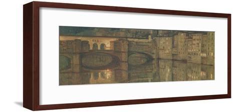 Ponte Vecchio, Florence-William Holman Hunt-Framed Art Print