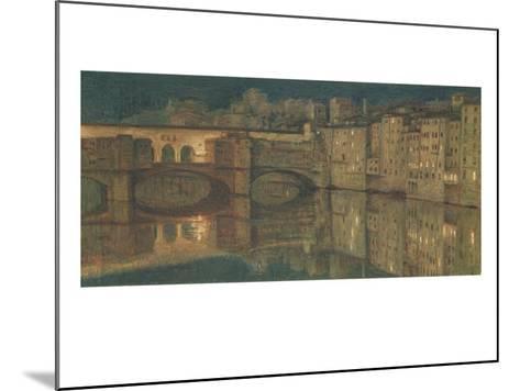 Ponte Vecchio, Florence-William Holman Hunt-Mounted Giclee Print