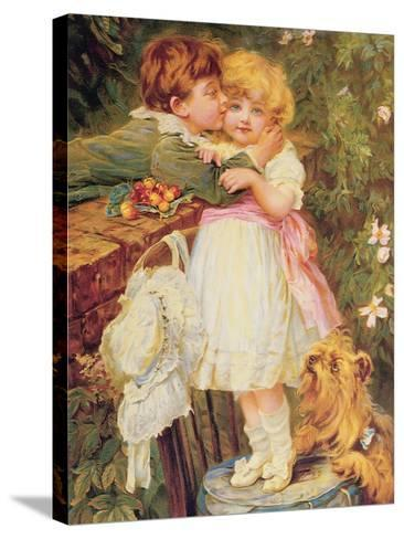 Over the Garden Wall-Frederick Morgan-Stretched Canvas Print