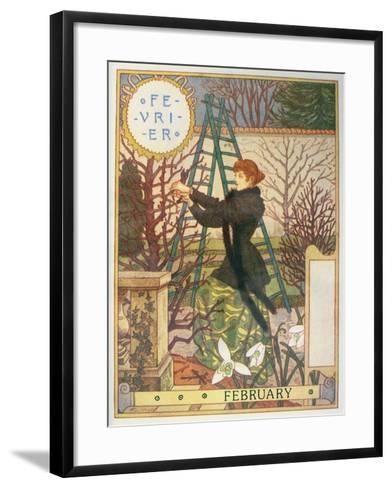 February-Eugene Grasset-Framed Art Print