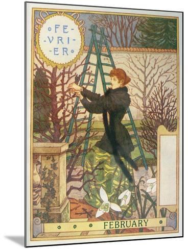 February-Eugene Grasset-Mounted Giclee Print
