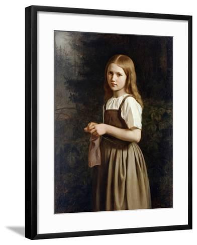 Girl Knitting, 1854-Minna Heeren-Framed Art Print