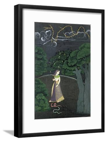 A Lady on her Way to a Tryst, c.1760--Framed Art Print
