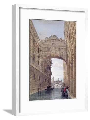 The Bridge of Sighs, Venice, engraved by Lefevre-Giovanni Pividor-Framed Art Print