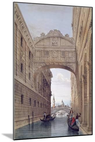 The Bridge of Sighs, Venice, engraved by Lefevre-Giovanni Pividor-Mounted Giclee Print