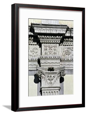 Entablature and Pilaster Capital from the Courtyard--Framed Art Print