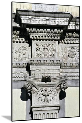 Entablature and Pilaster Capital from the Courtyard--Mounted Giclee Print