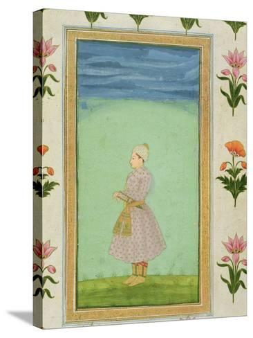 Standing Figure of a Boy with a Jewelled Dagger in his Sash, from the Small Clive Album--Stretched Canvas Print