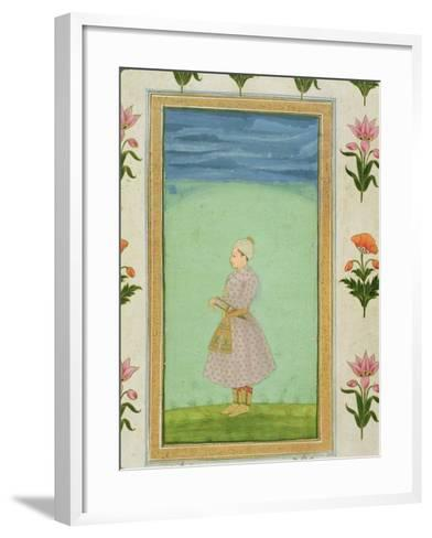 Standing Figure of a Boy with a Jewelled Dagger in his Sash, from the Small Clive Album--Framed Art Print
