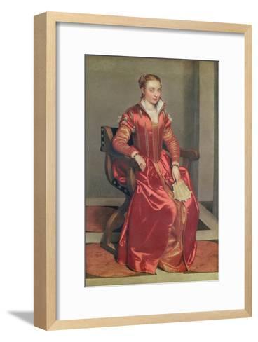 Portrait of a Lady, c.1555-60-Giovanni Battista Moroni-Framed Art Print