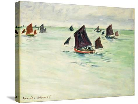 Fishing Boats at Pourville, 1882-Claude Monet-Stretched Canvas Print