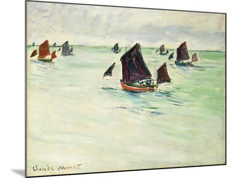 Fishing Boats at Pourville, 1882-Claude Monet-Mounted Giclee Print