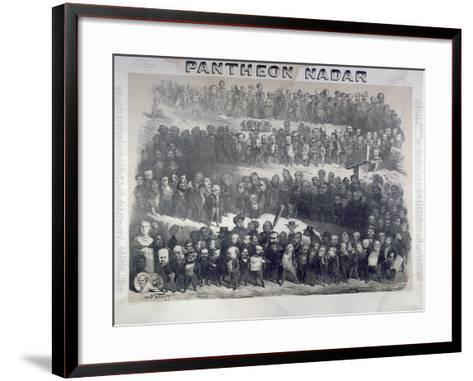 Nadar Pantheon, 1854, Paris-Paul Nadar-Framed Art Print