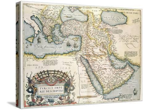 Map of the Middle East, from Theatrvm Orbis Terrarvm, 1570-Abraham Ortelius-Stretched Canvas Print