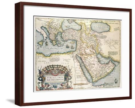 Map of the Middle East, from Theatrvm Orbis Terrarvm, 1570-Abraham Ortelius-Framed Art Print