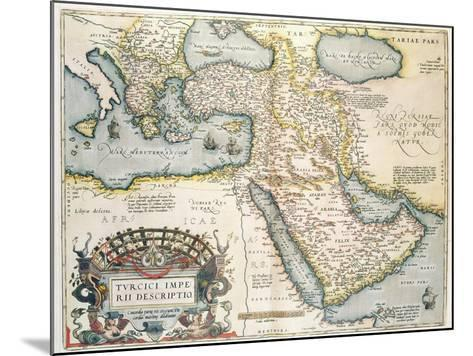 Map of the Middle East, from Theatrvm Orbis Terrarvm, 1570-Abraham Ortelius-Mounted Giclee Print