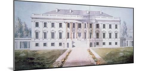 The White House in 1817-Benjamin Henry Latrobe-Mounted Giclee Print