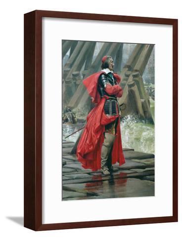 Cardinal Richelieu on the Sea Wall at La Rochelle, 1881-Henri-Paul Motte-Framed Art Print