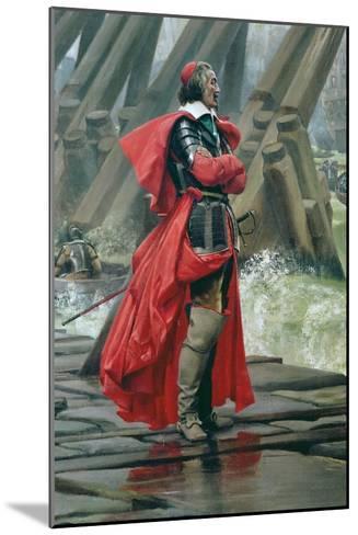 Cardinal Richelieu on the Sea Wall at La Rochelle, 1881-Henri-Paul Motte-Mounted Giclee Print
