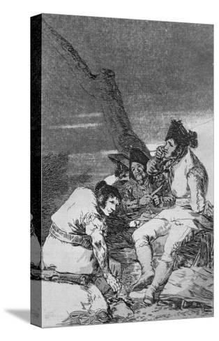 Lads Making Ready, Plate 11 of 'Los caprichos', pub. 1799-Francisco de Goya-Stretched Canvas Print