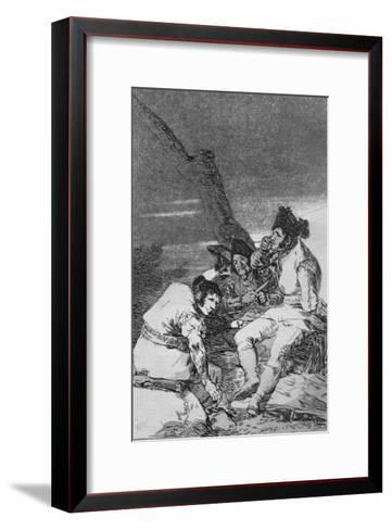 Lads Making Ready, Plate 11 of 'Los caprichos', pub. 1799-Francisco de Goya-Framed Art Print
