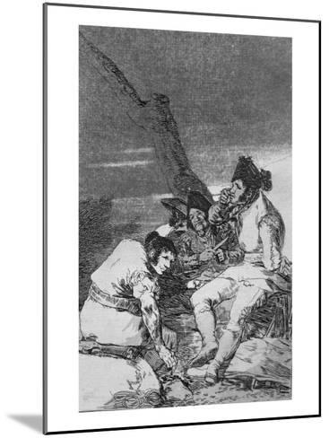 Lads Making Ready, Plate 11 of 'Los caprichos', pub. 1799-Francisco de Goya-Mounted Giclee Print