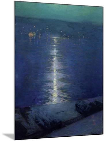 Moonlight on the River, 1919-Lowell Birge Harrison-Mounted Giclee Print