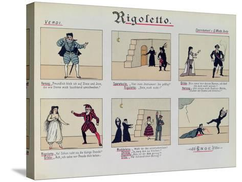 Scenes from the Opera 'Rigoletto' by Giuseppe Verdi--Stretched Canvas Print