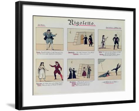 Scenes from the Opera 'Rigoletto' by Giuseppe Verdi--Framed Art Print