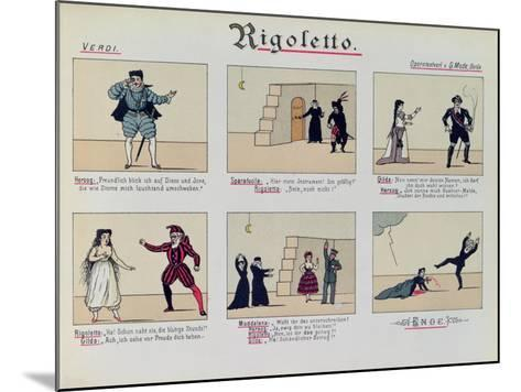 Scenes from the Opera 'Rigoletto' by Giuseppe Verdi--Mounted Giclee Print