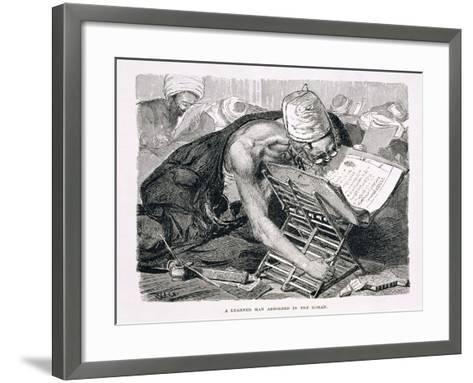 A Learned Man Absorbed in the Koran, 19th century-Karl Wilhelm Gentz-Framed Art Print