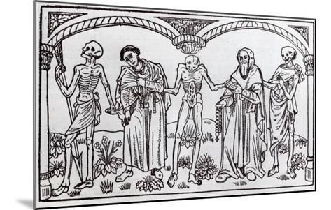 Death Taking the Monk and the Abbot, from the Danse Macabre, published Paris, 1485-Guy Marchant-Mounted Giclee Print