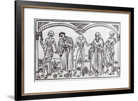 Death Taking the Monk and the Abbot, from the Danse Macabre, published Paris, 1485-Guy Marchant-Framed Art Print