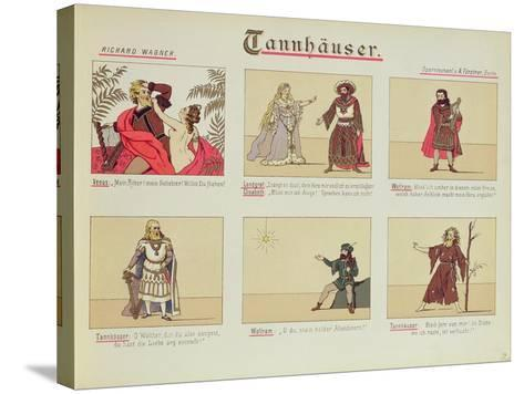 Six Scenes Relating to the Opera 'Tannhauser' by Richard Wagner--Stretched Canvas Print
