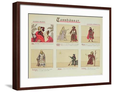 Six Scenes Relating to the Opera 'Tannhauser' by Richard Wagner--Framed Art Print