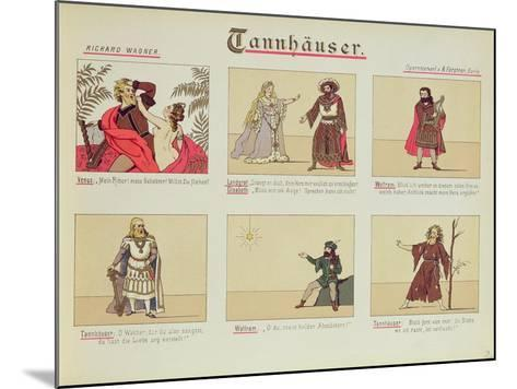 Six Scenes Relating to the Opera 'Tannhauser' by Richard Wagner--Mounted Giclee Print