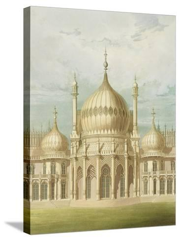Exterior of the Saloon from Views of the Royal Pavilion, Brighton by John Nash, 1826-John Nash-Stretched Canvas Print