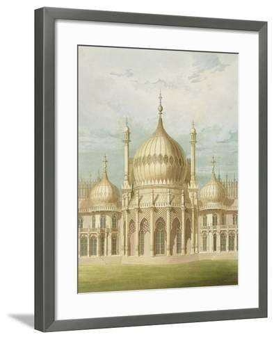 Exterior of the Saloon from Views of the Royal Pavilion, Brighton by John Nash, 1826-John Nash-Framed Art Print