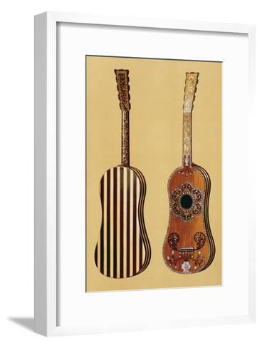 Guitar Inlaid with Mother-of-pearl, from 'Musical Instruments'-Alfred James Hipkins-Framed Art Print