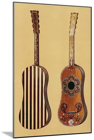 Guitar Inlaid with Mother-of-pearl, from 'Musical Instruments'-Alfred James Hipkins-Mounted Giclee Print