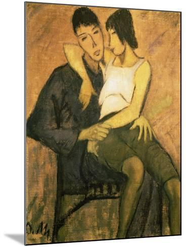 Urbanite Couple, 1920-Otto Mueller-Mounted Giclee Print