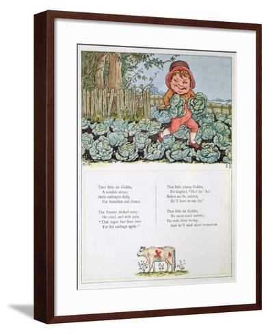 A Goblin Stealing Cabbages, Illustration for a poem from 'Under the Window'-Kate Greenaway-Framed Art Print